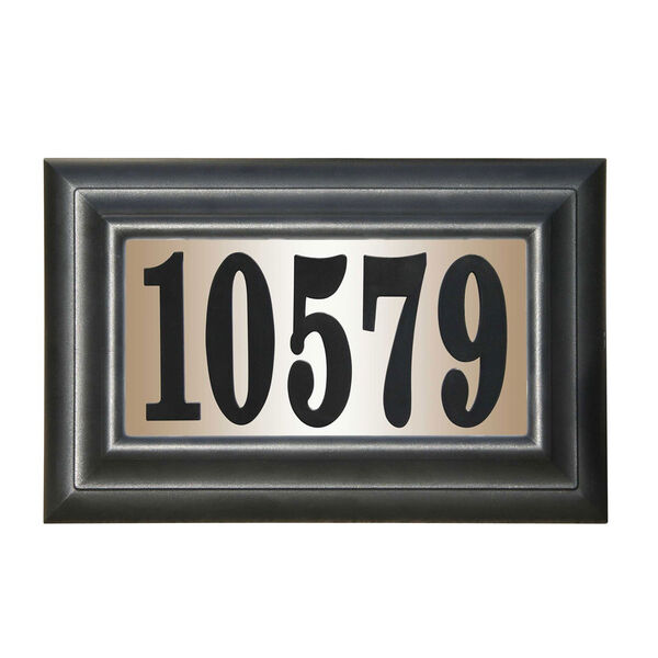 Edgewood Classic Do It Yourself Kit Polymer Frame Lighted Address Plaque, image 1