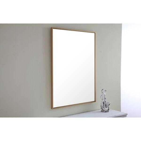 Eternity Brass 32-Inch Mirror, image 1