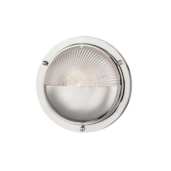 Hughes Polished Nickel One-Light LED Wall Sconce, image 1