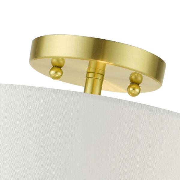 Meridian Satin Brass Two-Light Semi-Flush Mount, image 6
