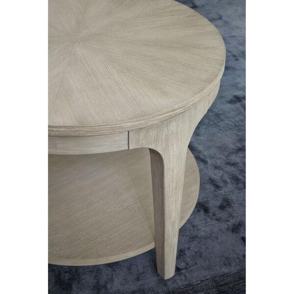 Alexandra White Round End Table, image 4