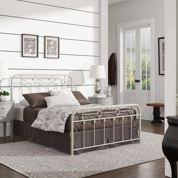 Elliot White Full Metal Spindle Bed, image 6