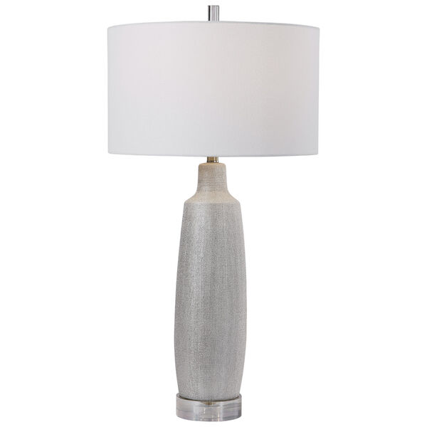 Kathleen Metallic Silver and Brushed Nickel Table Lamp, image 1