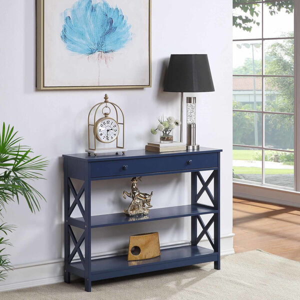 Oxford Cobalt Blue One-Drawer Console Table, image 1