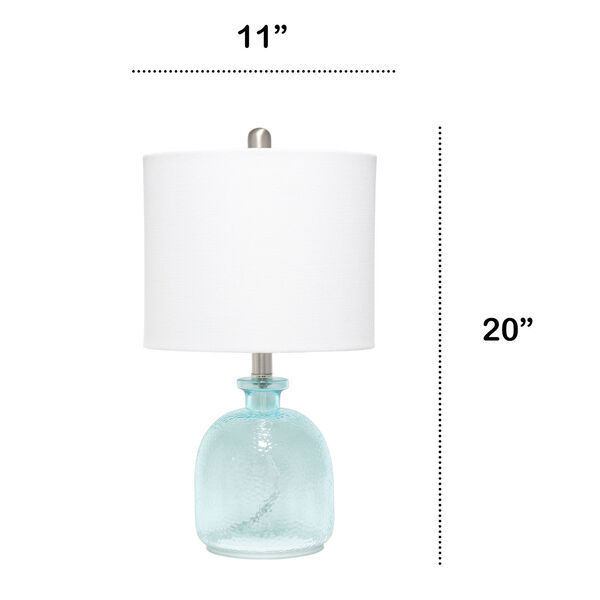 Cerise Clear Blue White One-Light Table Lamp, image 3