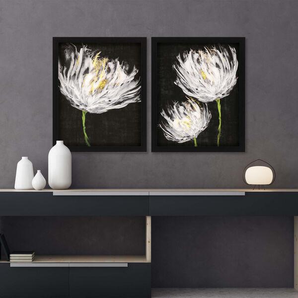 Tulips on Black Black Framed Art, Set of Two, image 1