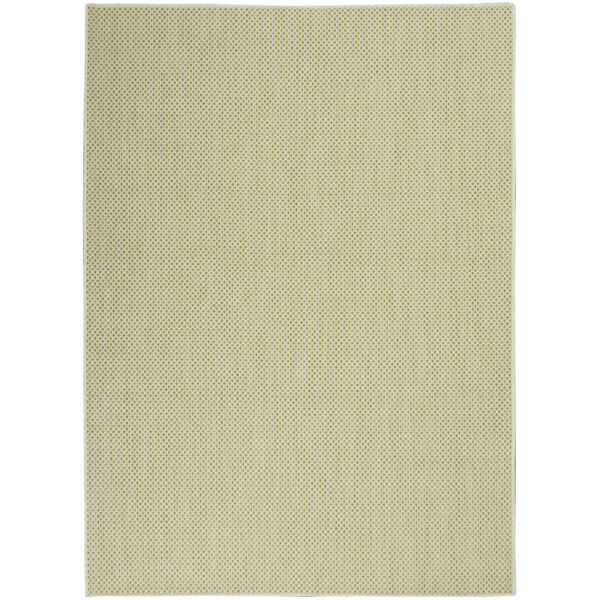 Courtyard Ivory and Green 5 Ft. x 7 Ft. Rectangle Indoor/Outdoor Area Rug, image 2