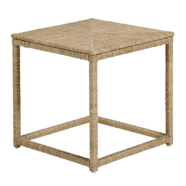 Wells Natural Seagrass End Table, image 1