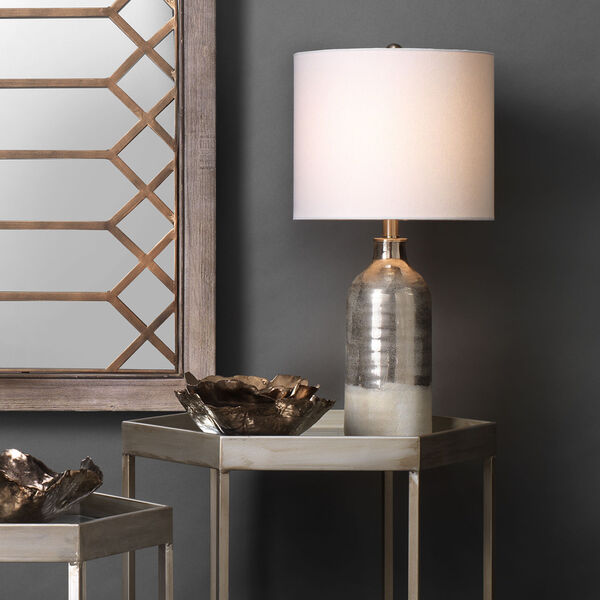 Cora Silvered Taupe and Off White One-Light Table Lamp, image 3