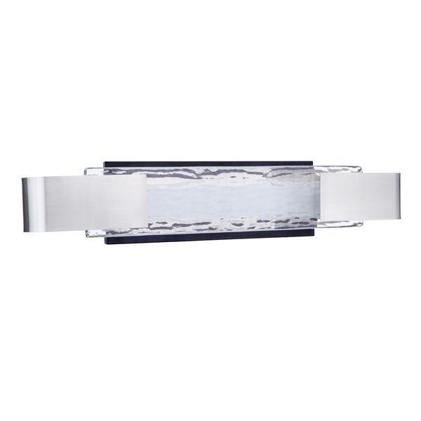 Harmony Flat Black and Polished Nickel LED Vanity Light, image 2