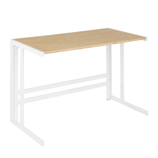 Roman White and Natural 45-Inch office Desk, image 1