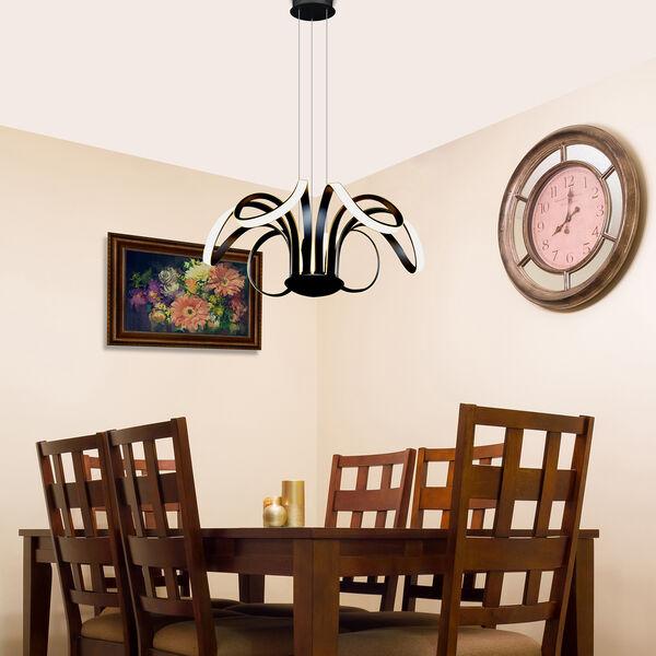 Capella Black 30-Inch LED Adjustable Chandelier, image 6
