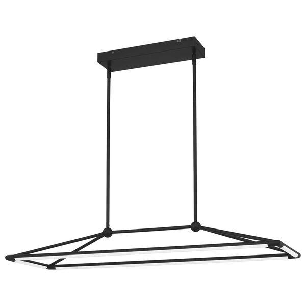 Ingram Matte Black LED Chandelier, image 1