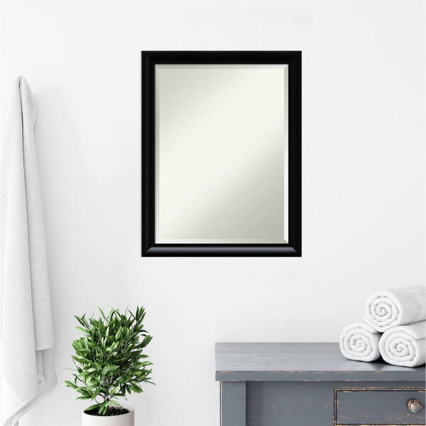 Steinway Black 21W X 27H-Inch Bathroom Vanity Wall Mirror, image 6