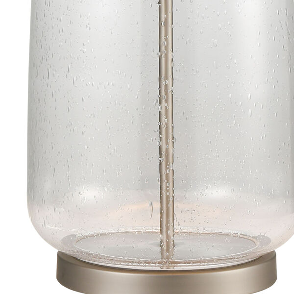 Whaling Clear Bubble Glass and Pewter One-Light Table Lamp, image 4