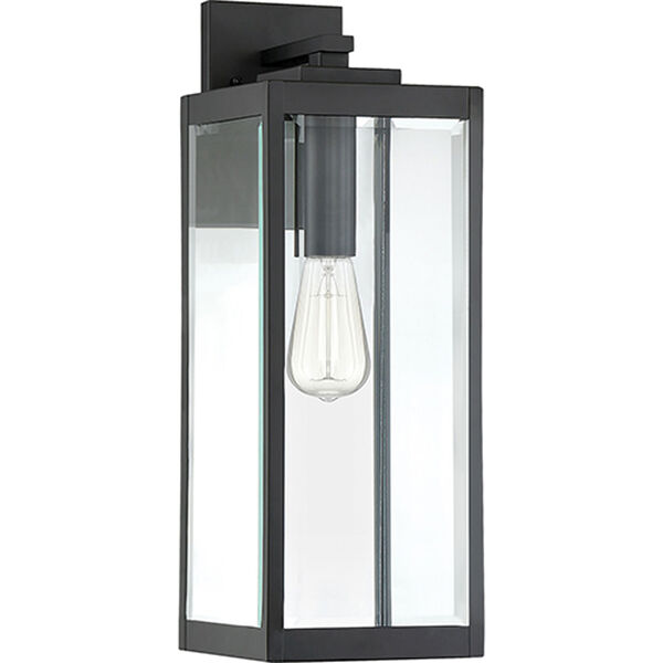 Pax Black 20-Inch One-Light Outdoor Wall Lantern with Beveled Glass, image 2