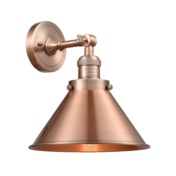 Briarcliff Antique Copper One-Light Wall Sconce, image 1