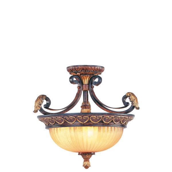 Villa Verona Bronze Three-Light Ceiling Mount/Chain Hung Fixture, image 2