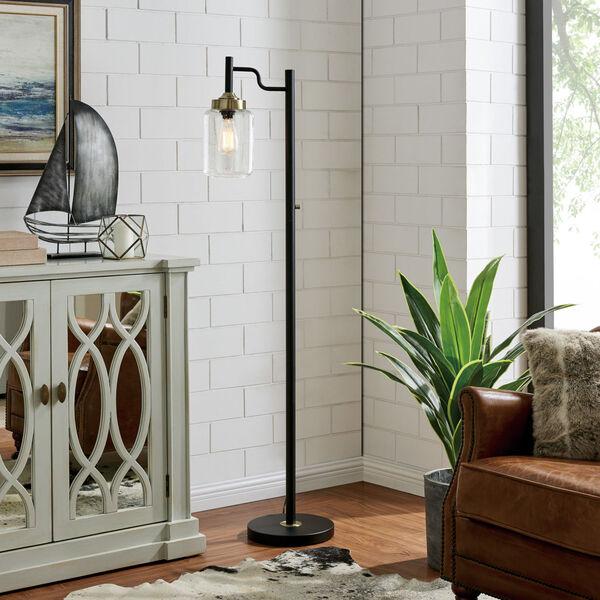 Luken Black One-Light Floor Lamp, image 3