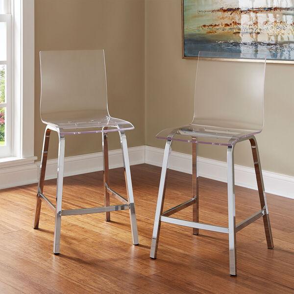 Seneca Acrylic Counter Chair, Set of 2, image 2