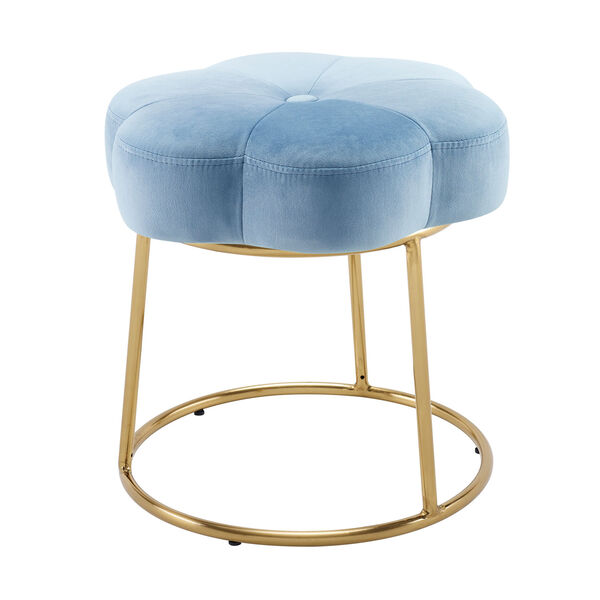 Max Gold Blue 18-Inch Vanity Stool, image 2