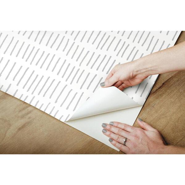 Tick Mark Gray Peel and Stick Wallpaper, image 6