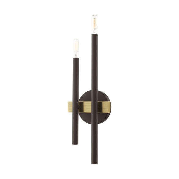 Denmark Bronze and Antique Brass Four-Light  Wall Sconce, image 2