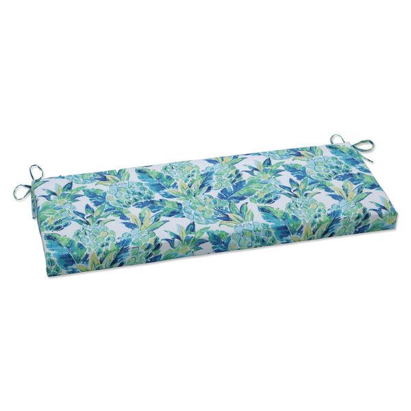Vida Blue Green White Bench Cushion, image 1