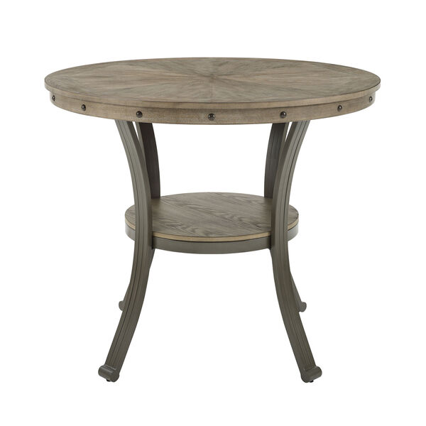 Elizabeth Pewter Counter Height Round Pub Table, image 2
