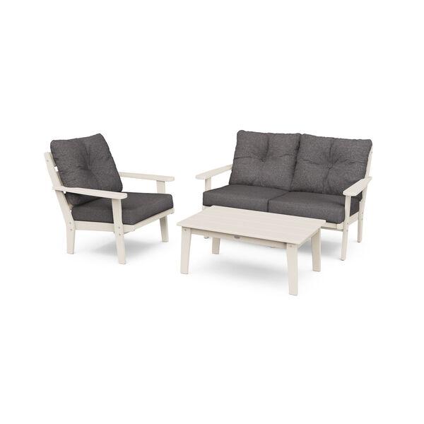 Lakeside Sand and Ash Charcoal Deep Seating Set, 3-Piece, image 1