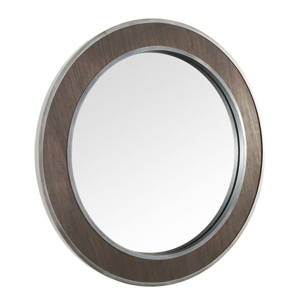 Macie Farmhouse Steel Round Wall Mirror, image 5
