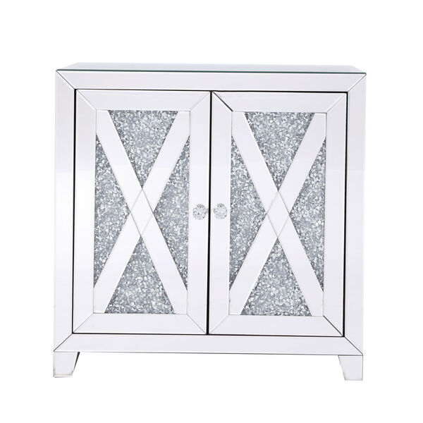 Modern Silver Crystal 28-Inch Cabinet, image 1