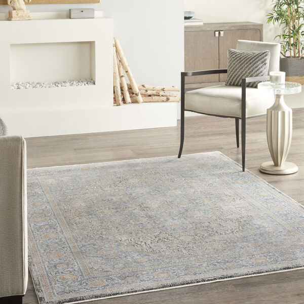 Starry Nights Blue Rectangular: 5 Ft. 3 In. x 7 Ft. 3 In. Area Rug, image 2