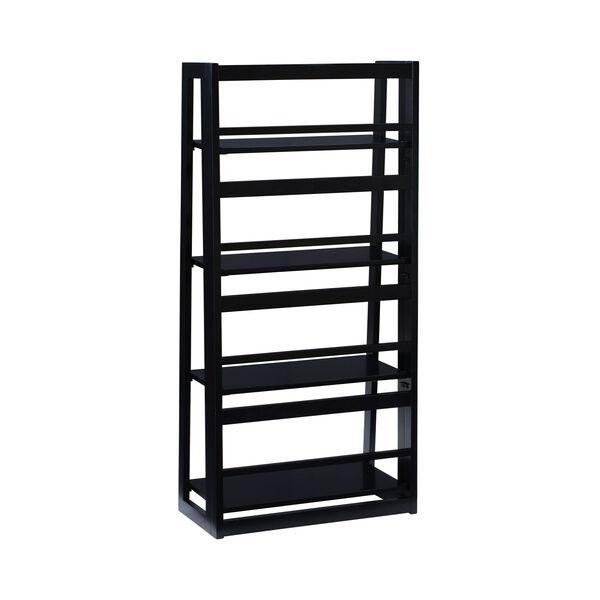 Olivia Black Folding Bookcase, image 4