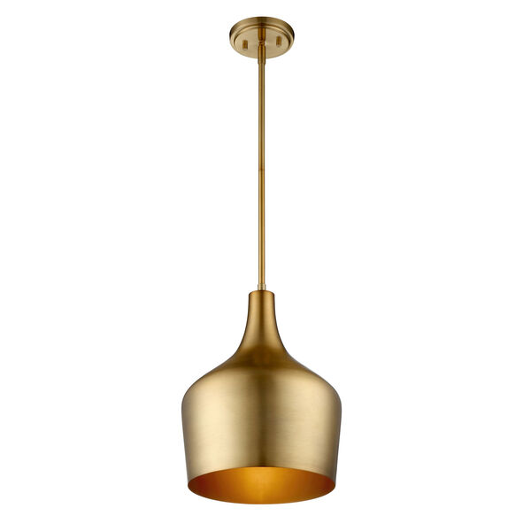 Uptown Natural Brass One-Light Pendant, image 2