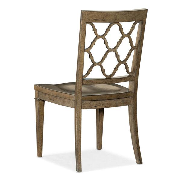 Montebello Carob Brown Side Chair, image 2