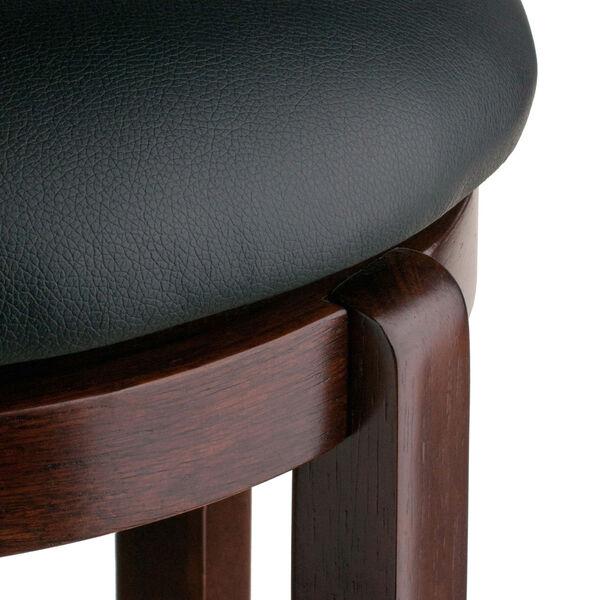 Walcott Walnut and Black Swivel Seat Counter Stool, image 5