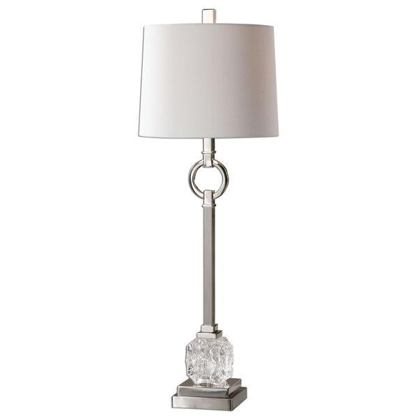 Bordolano Polished Nickel One-Light Buffet Lamp, image 1