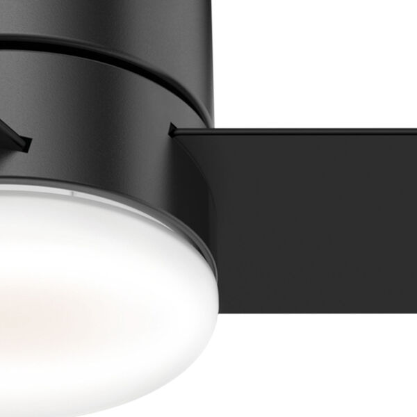 Minimus Low Profile Matte Black 44-Inch LED Ceiling Fan, image 6