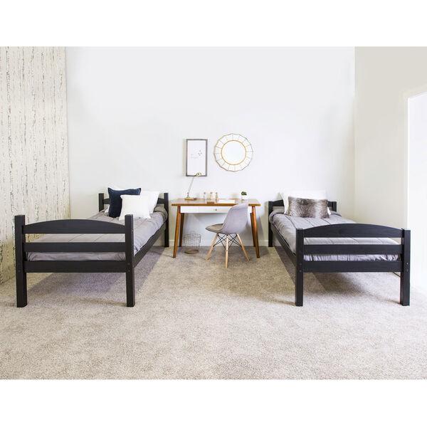 Solid Wood Bunk Bed - Black, image 4
