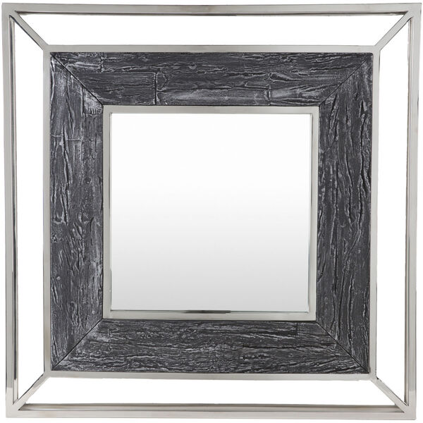 Allure Gray and Silver 32-Inch Wall Mirror, image 2