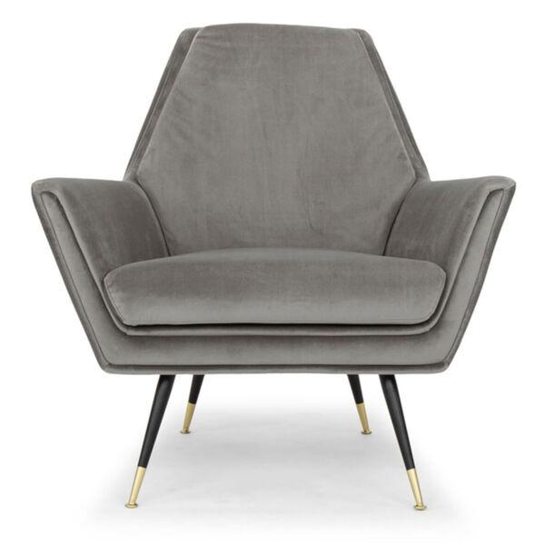 Vanessa Smoke Gray and Black Occasional Chair, image 2