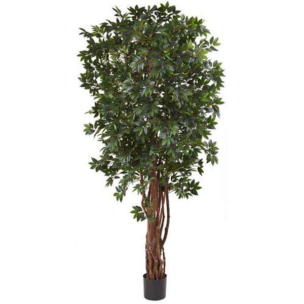 Green 7.5 Foot Lychee Silk Tree, image 1