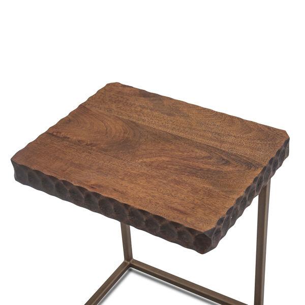 Vallarta Two Tone and Bronze Mango Wood Side Table, image 2