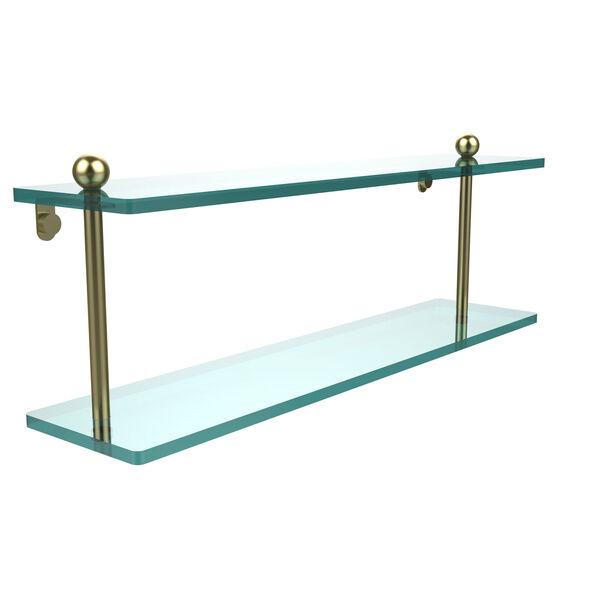 Prestige Regal Satin Brass Double Shelf, image 1