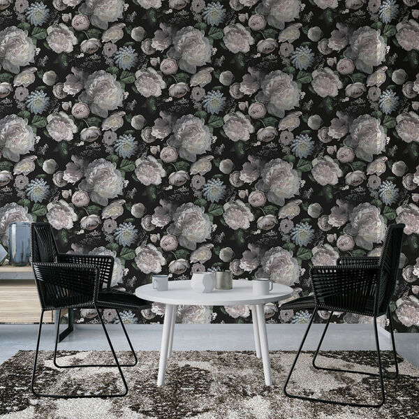 Moody Floral Removable Wallpaper, image 4