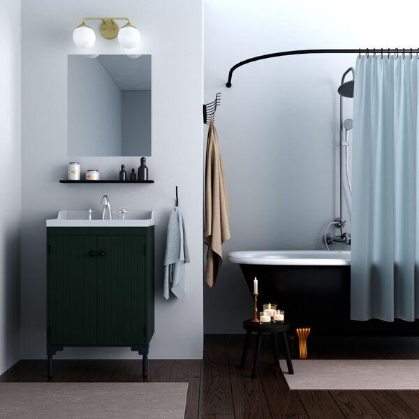 Hepburn Painted Modern Brass Two-Light Bath Vanity, image 2