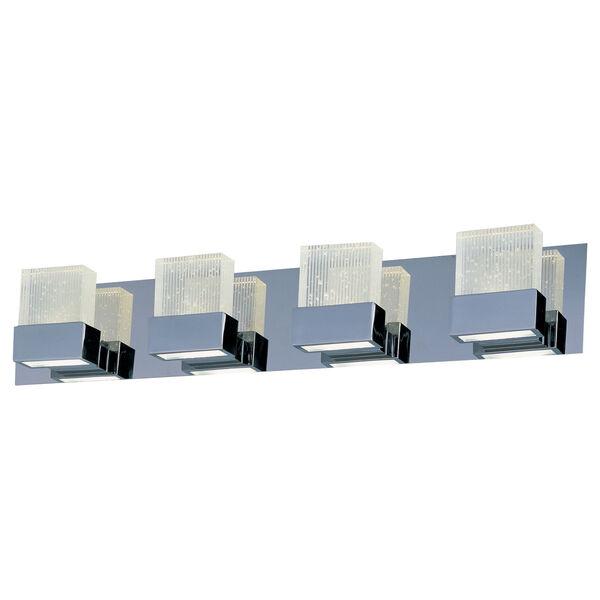Fizz III Polished Chrome Eight-Light LED 30-Inch Bath Fixture, image 1