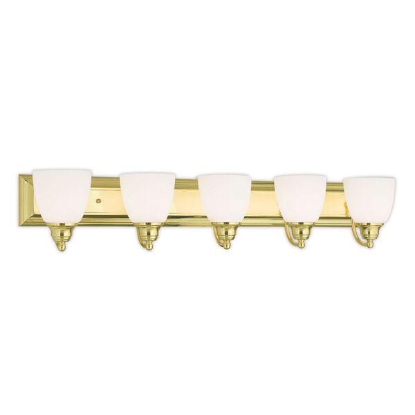 Springfield Polished Brass 36-Inch Five-Light Bath Light, image 1