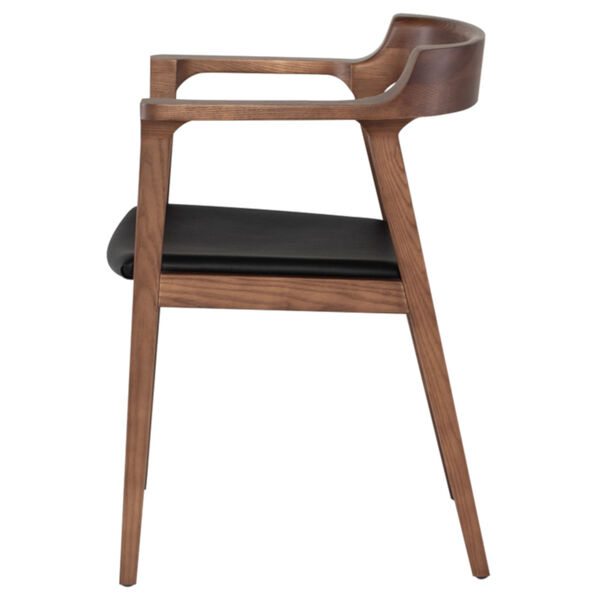 Caitlan Walnut and Black Dining Chair, image 3